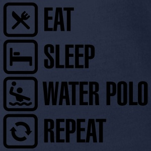 Eat Sleep Water Polo Repeat Shirts - Organic Short-sleeved Baby Bodysuit