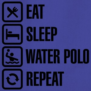 Eat Sleep Water Polo Repeat Camisetas - Delantal de cocina