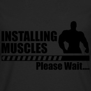 Installing muscles, funny gym, gym, funny - Men's Premium Longsleeve Shirt