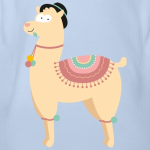 HAPPY LAMA - Baby Bio-Kurzarm-Body