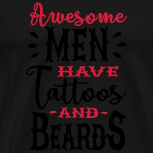 Awesome men have tattoos and beards 2clr Sportkläder - Premium-T-shirt herr