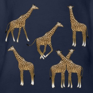 Giraffes range Long Sleeve Shirts - Organic Short-sleeved Baby Bodysuit