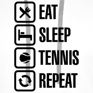 Eat Sleep Tennis Repeat Skjorter - Premium hettegenser for menn