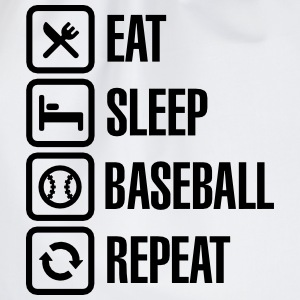 Eat, Sleep,  Baseball / Softball, Repeat Magliette - Sacca sportiva