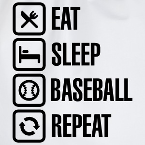 Eat, Sleep,  Baseball / Softball, Repeat T-shirts - Gymnastikpåse