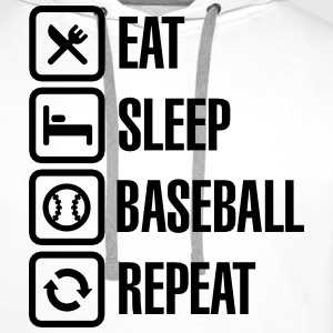 Eat, Sleep,  Baseball / Softball, Repeat T-shirts - Premiumluvtröja herr