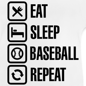 Eat, Sleep,  Baseball / Softball, Repeat Magliette - Maglietta per neonato