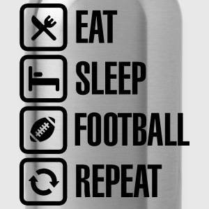 Eat Sleep American Football Repeat Tee shirts - Gourde
