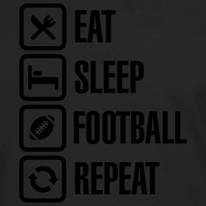 Eat Sleep American Football Repeat Tee shirts - T-shirt manches longues Premium Homme