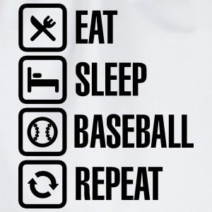 Eat, Sleep,  Baseball / Softball, Repeat Shirts met lange mouwen - Gymtas