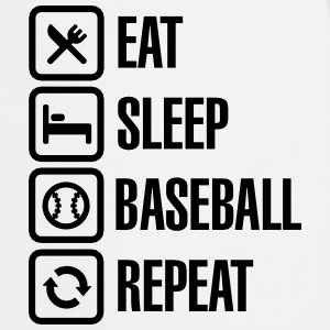 Eat, Sleep,  Baseball / Softball, Repeat Langærmede t-shirts - Forklæde