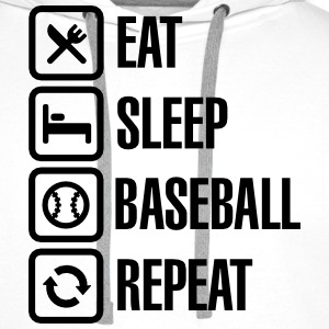 Eat, Sleep,  Baseball / Softball, Repeat Shirts met lange mouwen - Mannen Premium hoodie