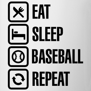 Eat, Sleep,  Baseball / Softball, Repeat Långärmade T-shirts - Mugg