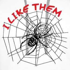 II like spiders Shirts - Men's Premium Hoodie