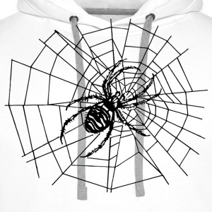 spider in the net T-Shirts - Men's Premium Hoodie