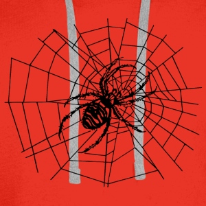 spider in the net Tops - Men's Premium Hoodie