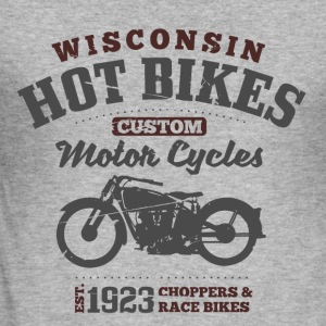 Wisconsin Hot Bikes  Gensere - Slim Fit T-skjorte for menn