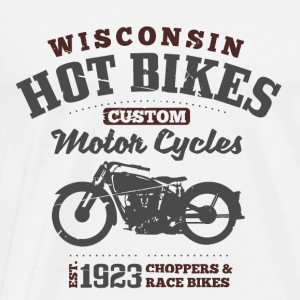 Wisconsin Hot Bikes  Gensere - Premium T-skjorte for menn