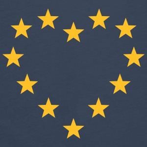 EU stars heart, Europe, flag, european union Bags & Backpacks - Men's Premium Longsleeve Shirt