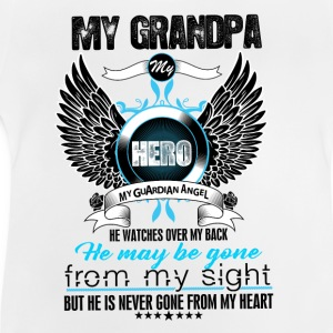 My Grandpa My Hero My Guardian Angel Watches Over Shirts - Baby T-Shirt