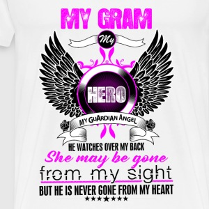 Granm My Hero My Guardian Angel She Watches Over  Tops - Men's Premium T-Shirt