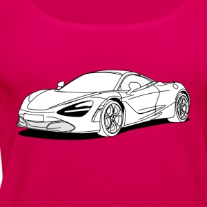 720s Coupe White T-Shirts - Women's Premium Tank Top