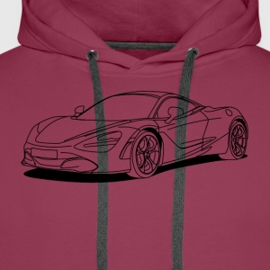 720s outline Shirts - Men's Premium Hoodie