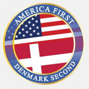 AMERICA FIRST DENMARK SECOND Caps & Mützen - Männer Premium T-Shirt