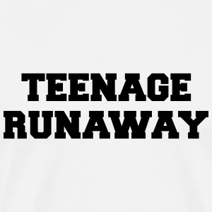 Teenage Runaway Funny Quote Sportbekleidung - Männer Premium T-Shirt