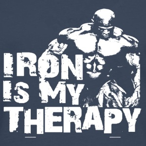 Iron is my therapy Bouteilles et Tasses - T-shirt manches longues Premium Homme