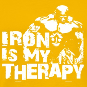 Iron is my therapy Bouteilles et Tasses - T-shirt Premium Homme
