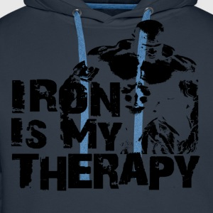 Iron is my therapy Tee shirts - Sweat-shirt à capuche Premium pour hommes