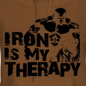 Iron is my therapy Tee shirts - Sweat-shirt à capuche Premium pour femmes