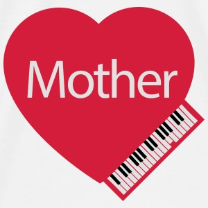 Mother's Day Grand Piano Baby Bibs - Men's Premium T-Shirt
