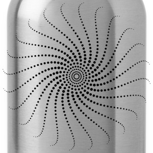 Spiral, psychedelic, trance, goa, house, rave, om, - Water Bottle
