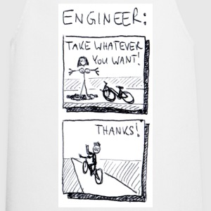 White The naked truth about engineers. Men's Tees - Cooking Apron