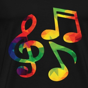 Colorful music notes of long sleeve shirts - Men's Premium T-Shirt
