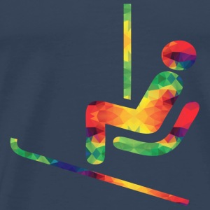Colorful ski rider sportswear - Men's Premium T-Shirt