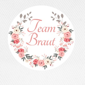 team_braut_rose_wreath Buttons & Anstecker - Baseballkappe