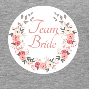 team_bride_rose_wreath T-shirts - Mannen Premium shirt met lange mouwen