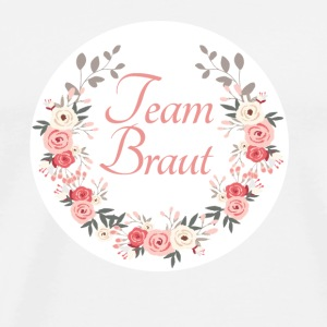 team_braut_rose_wreath Buttons & Anstecker - Männer Premium T-Shirt
