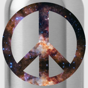 Peace Symbol Sternenhimmel Stardust T-Shirts - Trinkflasche