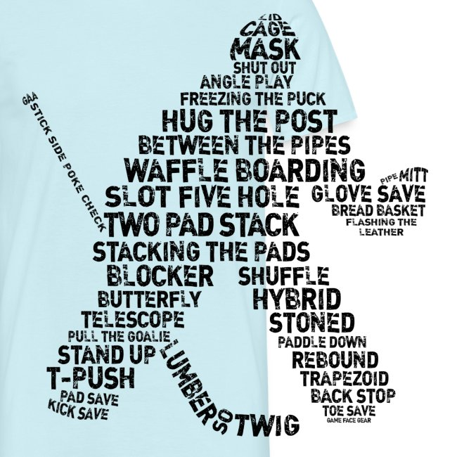 Ice Hockey Goalie Terminology Men's T-Shirt
