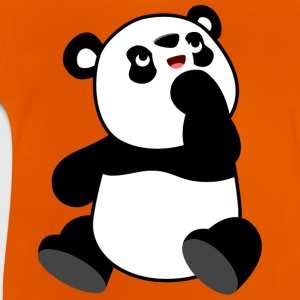 Cute Curious Cartoon Panda by Cheerful Madness!! Shirts - Baby T-Shirt