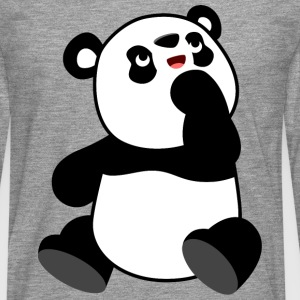 Neugieriger Cartoon-Panda von Cheerful Madness!! T-Shirts - Männer Premium Langarmshirt