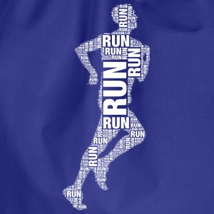 runner running Shirts - Drawstring Bag