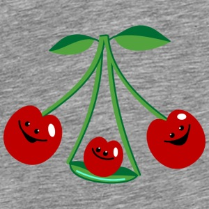 Three cherries Babyhaklapp - Premium-T-shirt herr