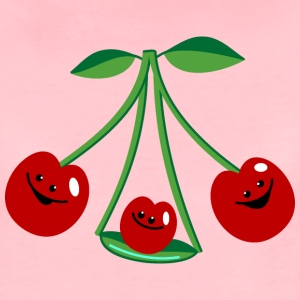 Three cherries Babyhuer  - Dame premium T-shirt