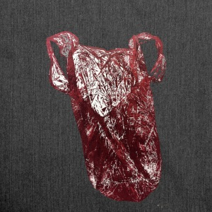 Plastic-bag red - Schultertasche aus Recycling-Material