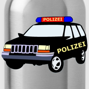 Police car of long sleeve shirts - Water Bottle